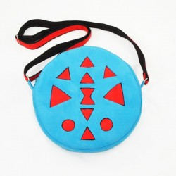Round bag with aztec pattern
