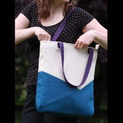Color block tote bag,...