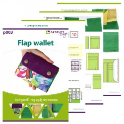 How to sew a wallet - sewing pattern and tutorial