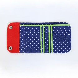 Tri-fold wallet with a double snap closure - sewing pattern and tutorial