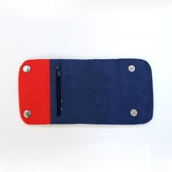 How to sew a tri-fold wallet with a flap - step by step tutorial and pattern