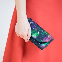 Clutch wallet sewing pattern and tutorial. How to sew a wallet.
