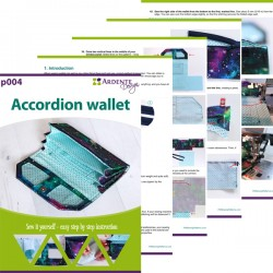 How to sew an accordion wallet - step by step tutorial and wallet sewing pattern