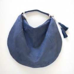 How to sew a shoulder bag with a zipper closure. Hobo bag sewing pattern.