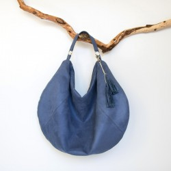 Hobo bag sewing pattern and tutorial, how to sew large slouchy bag