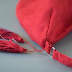 Hobo bag pattern and tutorial. How to sew a bag with a lining.