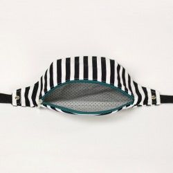 How to sew a fully lined fanny pack with a zipper closure. No bias tape needed.