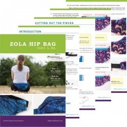 Hip bag, fanny pack sewing pattern and tutorial. Step by step sewing instruction.