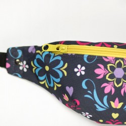 How to sew a zipper into a hip bag with a lining - sewing tutorial.