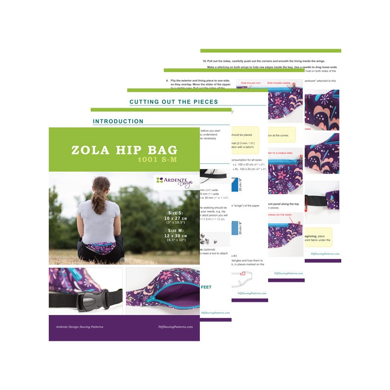 Zola Hip Bag Sewing Pattern, Fanny Pack Tutorial, Festival