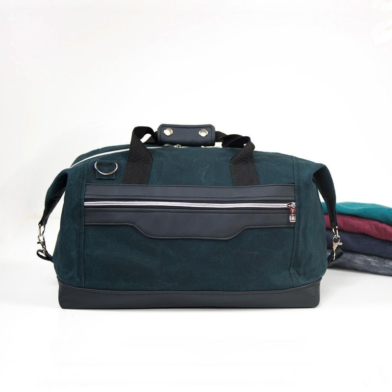 How to sew a duffel bag with folded top corners - sewing pattern and tutorial.