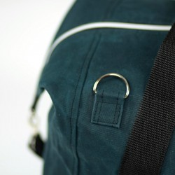 How to sew a strap connector to a bag.