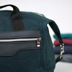 How to sew a duffel bag - weekender bag sewing pattern and tutorial.