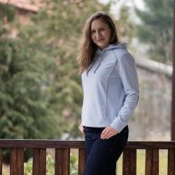 Hoodie with contrasting inserts for women - sewing pattern