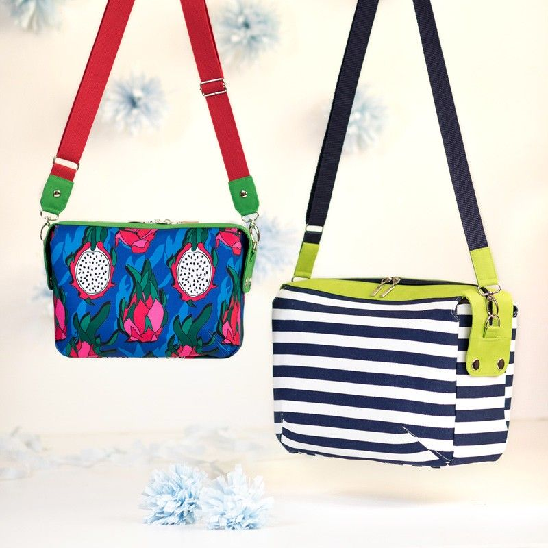 Olivia handbag in 2 sizes - sewing pattern and tutorial