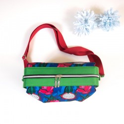Medium handbag with contrasting zipper panel. Learn how to sew a bag with zipper closure and a lining.