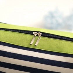 How to sew a zipper into a bag. How to sew a zipper panel. Bag sewing pattern in 2 sizes.