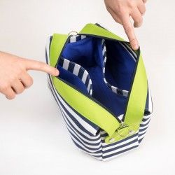 How to sew a bag with inside dividing pockets - lining divided into 3 compartments.