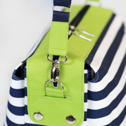How to sew a strap connector, how to sew a detachable shoulder strap.