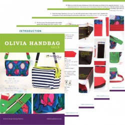 How to sew Oliva bag - sewing pattern and step by step tutorial. Bag sewing pattern in 2 sizes.