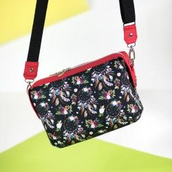 Small Olivia bag - sewing pattern and tutorial. Learn how to sew a shoulder bag.