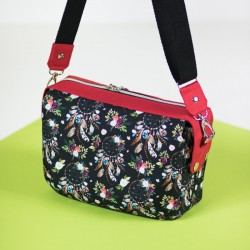 Medium bag with decorative zipper panel that goes over the sides - sewing pattern and tutorial.
