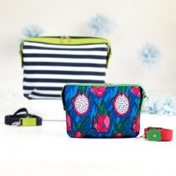 Small version of Olivia handbag. Learn how to sew a medium bag with a zipper closure - bag sewing pattern and tutorial.