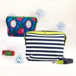Large version of Olivia handbag. Learn how to sew a roomy bag with a zipper closure - bag sewing pattern and tutorial.