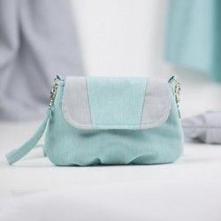 How to sew a small handbag with a flap, free sewing pattern