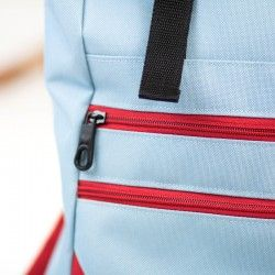 Courier backpack with two zippered pockets at the front - sewing pattern and tutorial