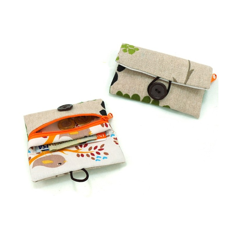 Little wallet with zippered pocket, kids wallet, coin purse