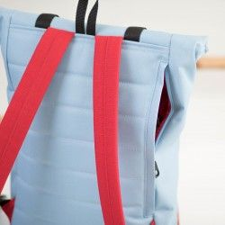 Dylan backpack with padded back panel and shoulder straps. Zippered side opening for easy access.