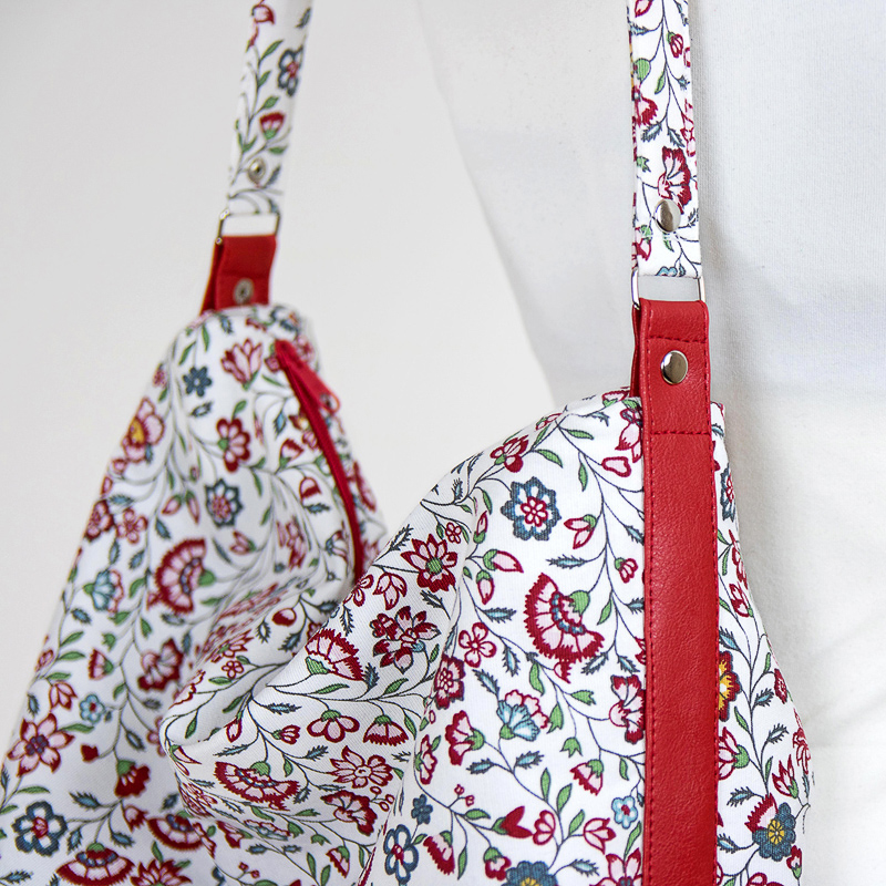 Hobo bag sewing pattern, shoulder bag tutorial, DIY purse