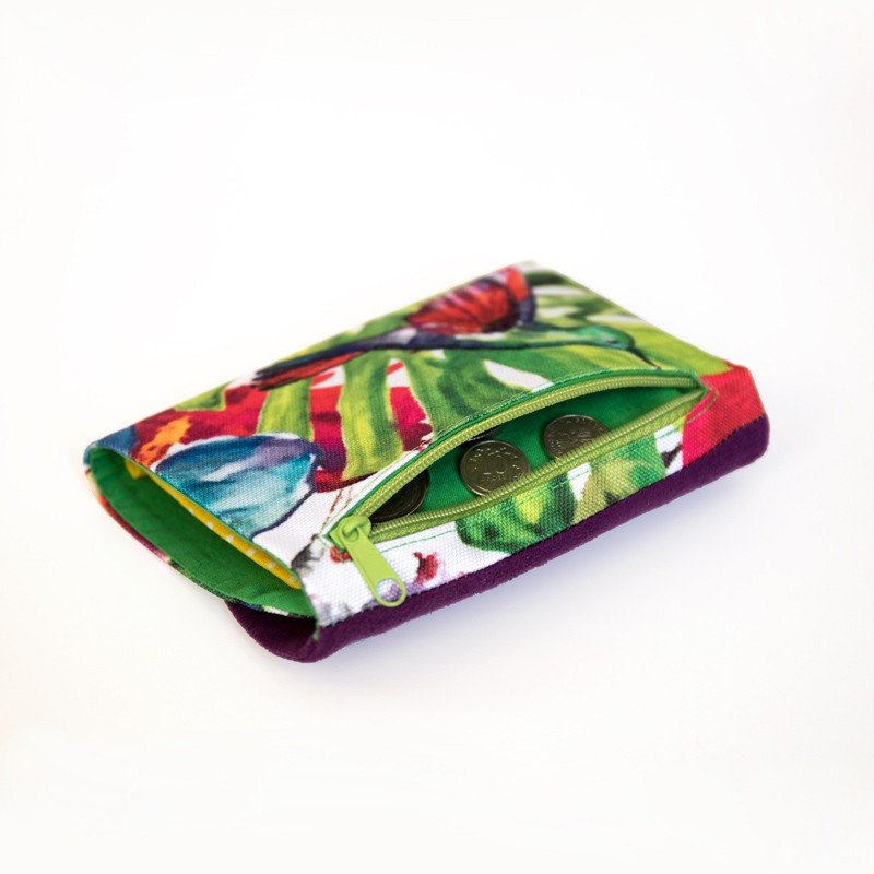 How to sew a tri-fold wallet - sewing pattern and tutorial, DIY