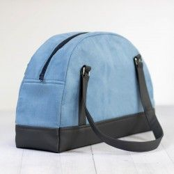 How to sew a large bag with zippered closure, bowler bag sewing pattern