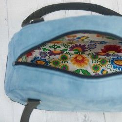 How to sew a bowler bag with zippered  closure and a lining - sewing pattern and tutorial