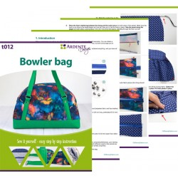 Large handbag, baby bag - sewing pattern and step by step tutorial