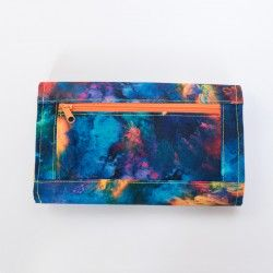 Beautiful clutch wallet with expandable zipper pocket. How to sew a wallet.