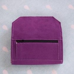 How to sew a zippered pleated pocket. Wallet zippered pocket with a pleat - tutorial.