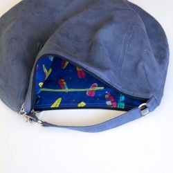 Hobo bag sewing pattern and sewing tutorial.