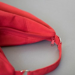 Bag with a zipper closure. How to sew a hobo bag.