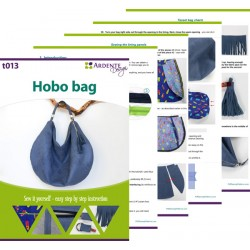 How to sew a large, hobo bag. Hobo bag sewing pattern.