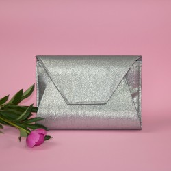 Silver envelope bag - sewing pattern and step by step tutorial