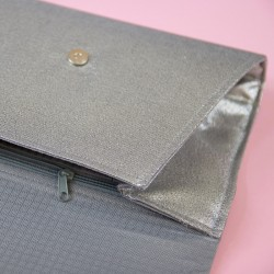 How to sew a clutch with lining and zippered pocket inside.