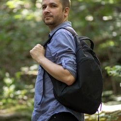 Learn how to sew a backpack for men. Backpack sewing pattern and tutorial.