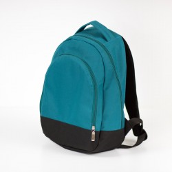 Medium backpack with a zippered pocket on the front. How to sew a backpack for a child.
