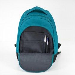 Learn how to sew a backpack with a front zippered pocket and a inside pocket panel.