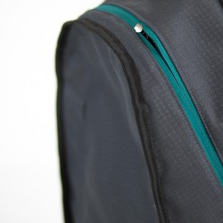Finishing edges with a binding tape.  Backpack pdf sewing pattern and tutorial.