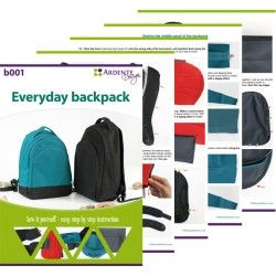 Backpack sewing pattern and tutorial. Step by step instruction on how to sew a backpack.
