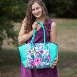 How to sew a bag with zipper closure and a lining - bag sewing pattern.